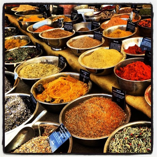 Spices at the Farmers Market.  (Taken with instagram)