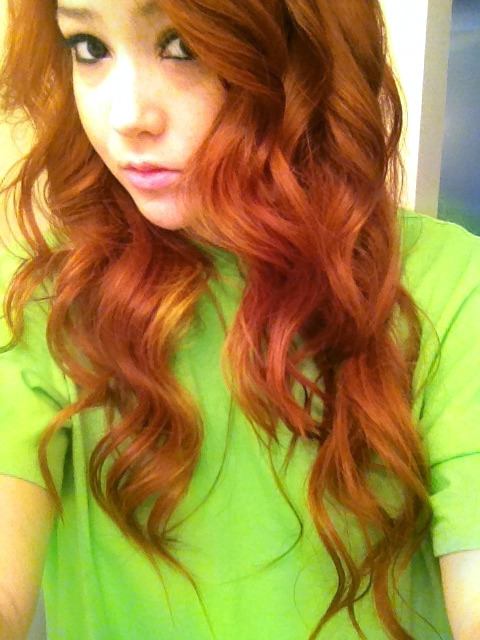 curled my hair like a couple of days ago lol