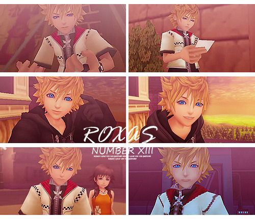 "megaphy:  KINGDOM HEARTS 10 DAYS EDITS CHALLENGE  DAY 1: All time favourite character - Roxas My friend once said ""Roxas has gone through so much, there's always angst involved around him"" and I told her ""Maybe that's why I love him so much""."