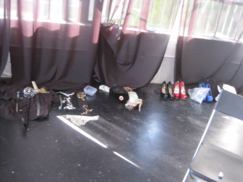 shoes, swords and accessories set up for a big shoot at @StudioServitu  Los Angeles earlier this year during this years tour :)