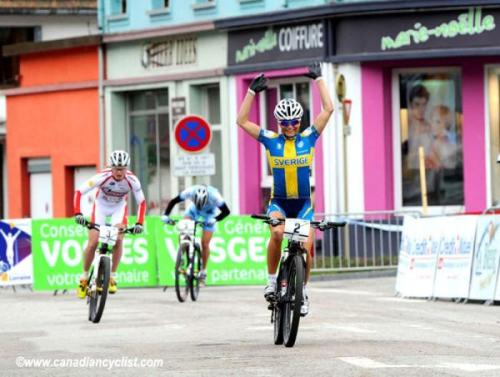 La Bresse Eliminator 2012: Jenny Rissveds (Sweden) Wins, Photos | Cyclingnews.com 1.   Jenny Rissveds (Swe) Sweden2.   Alexandra Engen (Swe) Ghost Factory Racing Team3.   Kathrin Stirnemann (Swi) Sabine Spitz Haibike Team4.   Rowena Fry (Aus) Australia5.   Cécile Ravanel (Fra) GT Skoda Chamonix6.   Anneke Beerten (Ned) Milka- Spuerior MTB7.   Maaris Meier (Est) Estonia8.   Tracy Moseley (GBr) T-Mo9.   Anne Terpstra (Ned) GT Skoda Chamonix10. Chloe Woodruff (USA) Full results and race report More photos of the Eliminator on Cyclingnews