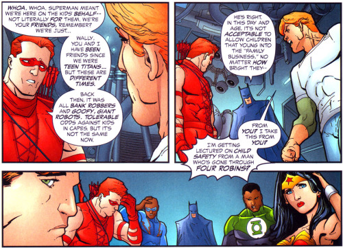 gabzilla-z:  pitudt:  You just got schooled: Wally West style.  burn  i remember being happy about this because it acknowledged Steph