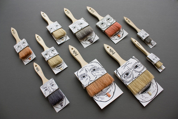 jaymug:  Funny paintbrush packaging by Poilu.