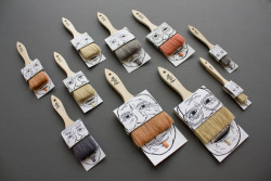 lylaandblu:  Funny paintbrush packaging by Poilu