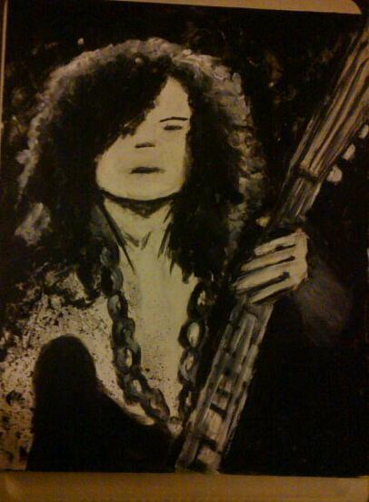Painting of jimmy page