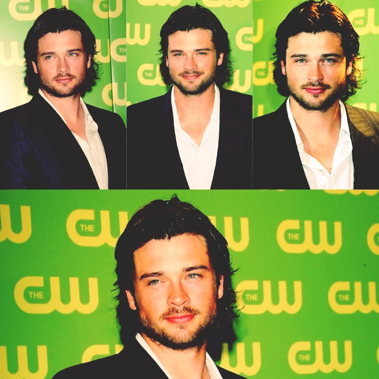 inbetweenthenandnow:  Tom Welling, 2006 Upfronts.  Bearded, sexily.