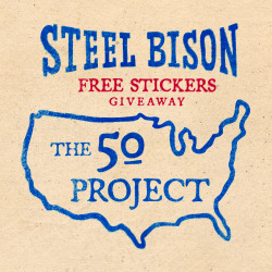 FREE STICKER/S TO ONE PERSON IN EACH OF THE 50 STATES.Just message your state. Then, one person from each state will be sent a FREE STICKER to take a cool photo of in that state. Some people will also receive a FREE PATCH as an extra thank you for their support.