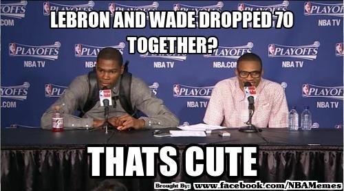 Who's better: Durant & Westbrook OR LeBron & Wade?