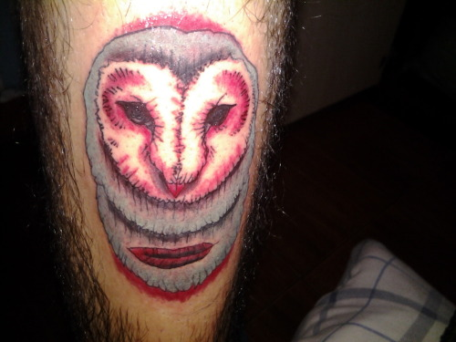 fuckyeahtattoos:  My owl tattoo    Oh my damn. I need an owl tattoo. A barn owl tattoo. Favorite owl? Yes.