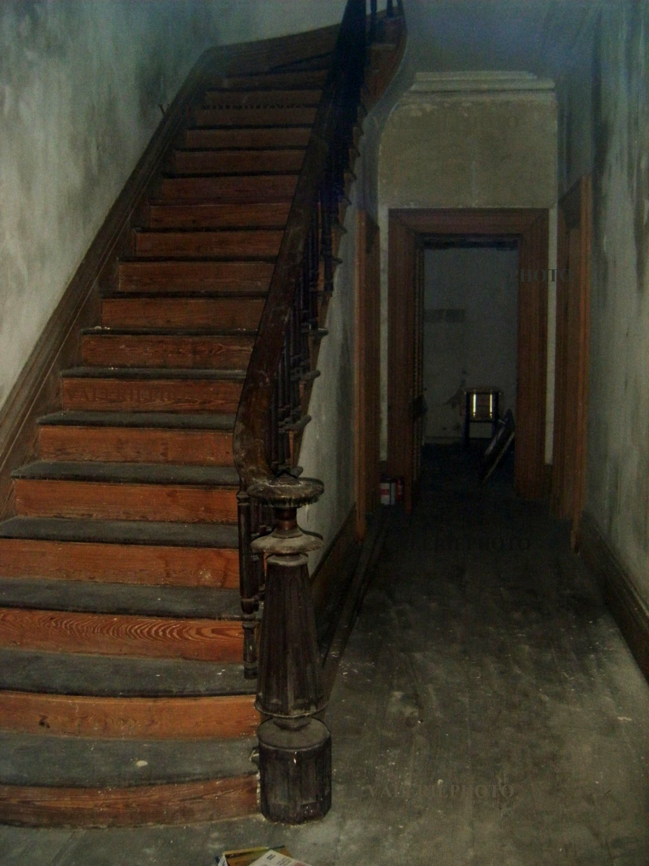 Foyer in abandoned Savannah Georgia mansion/house