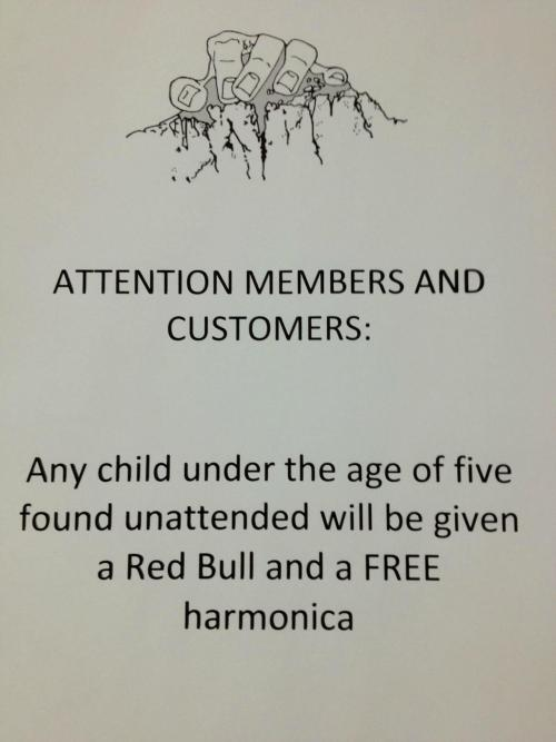 austinparrishblog:  Saw this sign at my local rock climbing facility  Hilarity.