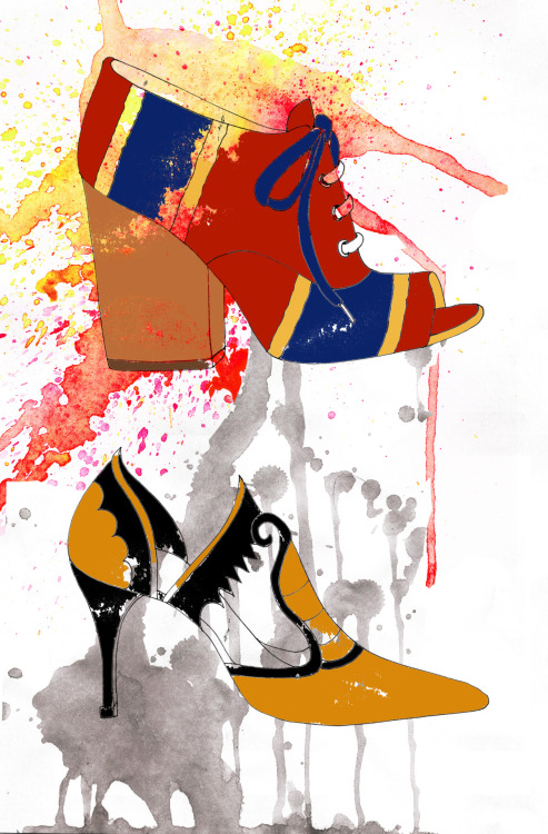 D&G and Manolo Blahnik shoes sketches