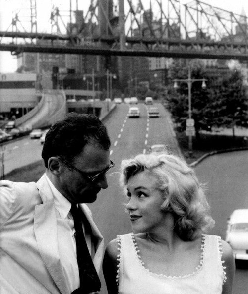 xoxomarilynmonroe:  Marilyn and 3rd husband, playwright Arthur Miller.
