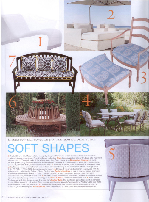 Cottages & Gardens magazine features Maison Jardin from the Richard Frinier Collection for Century. Click through to see more.