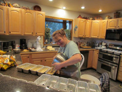 Nearly 400 loaves of homemade Banana Chocolate Chip Bread were served to athletes at Racing Underground events during the 2011/2012 winter season.  Here's how they're made.  http://www.racingunderground.com