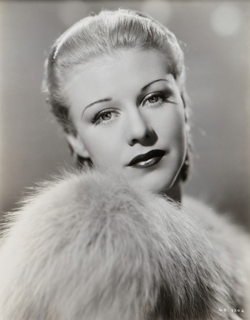 Ginger Rogers, 1936, a promo shot for Follow the Fleet by John Miehle