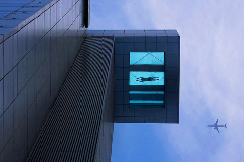 "…a new 24th [floor] swimming pool…in Shanghai, China, which has nothing underneath the deep end apart from a pane of toughened glass…the 30-metre-long pool lets guests feel like they're ""swimming over the air""…  more."