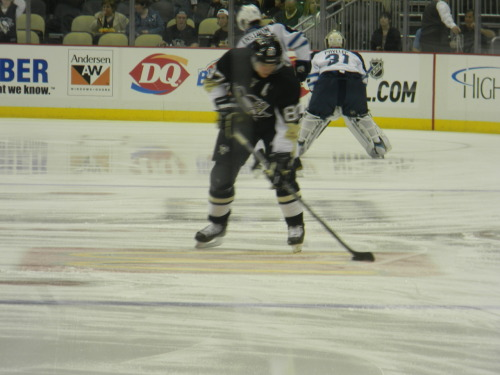"Sid tracing the McDonalds ""M"". As he does EVERY home game. 3/20/12"