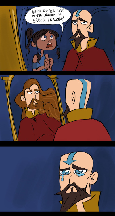 kgishfish:  What Tenzin would see in the Mirror of Erised.