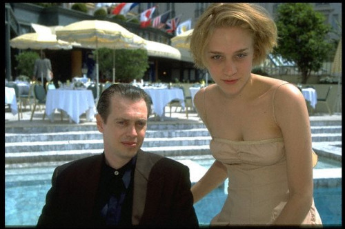 palefacepremiere:  Bonus Cannes photo: Chloe Sevigny and Steve Buscemi, 1996.