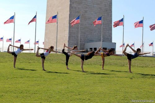 pollastrella:  Just doing yoga on the D.C. National Mall, nbd :)