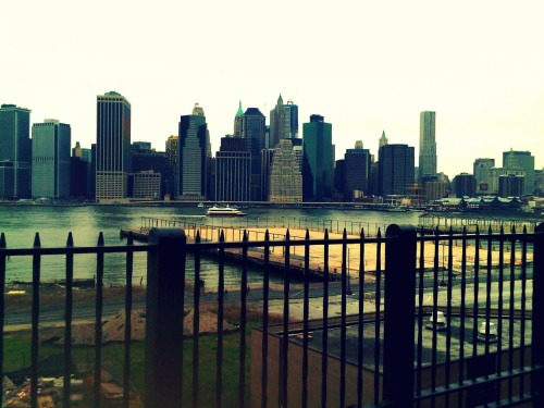 the view from brooklyn heights. taken with my blackberry.