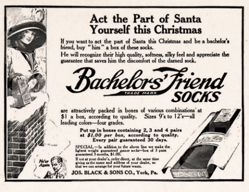 Bachelor's Friend Socks, 1913
