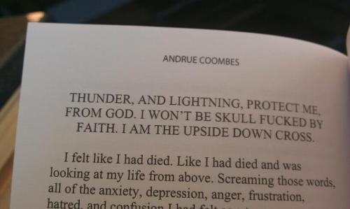 An excerpt from my new book! Being able to put those lyrics into a legitimate literary work is the best thing I think I've ever done.