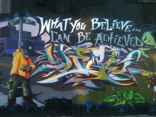 What you believe can be achieved Mural, Park Slope