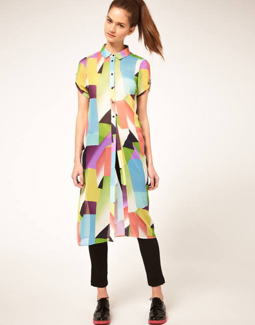 ASOS Super Long Blouse With Rave PrintMore photos & another fashion brands: bit.ly/JgPXRU