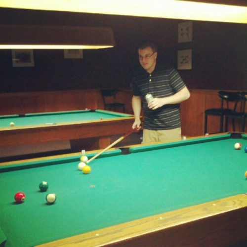 One handed pool ftw (Taken with instagram)
