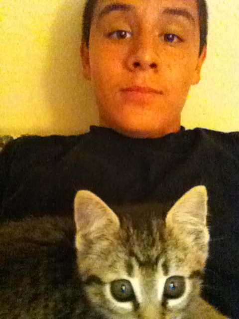 Me n my kitty(: