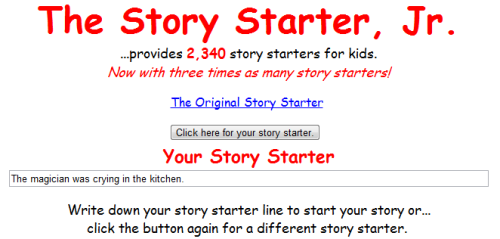 kbkonnected:  The Story Starter Jr. 2,340 Story Starters #elemchat #spedchat #storystarters You may also like… 150 Amazing Images Free Illustrated Story Starters Silly Scenes Reflective Writing Prompts