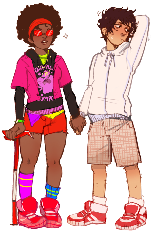 yummytomatoes:  just wanted to draw some human karkat and terezi