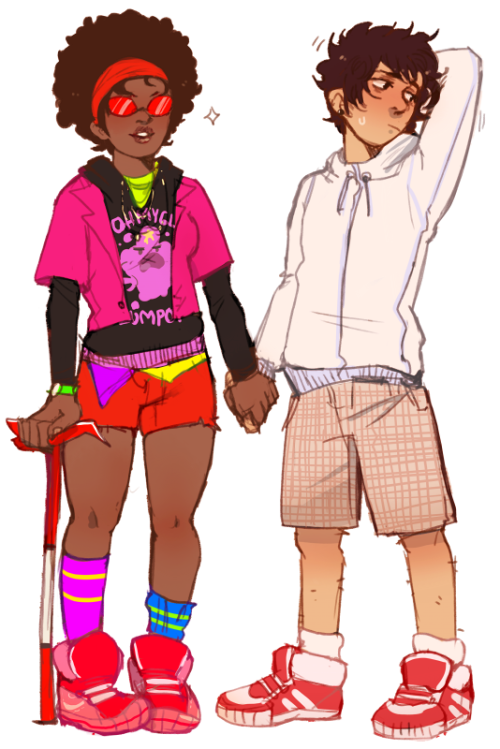 meowgon:  yummytomatoes:  just wanted to draw some human karkat and terezi   screeches shrilly babies