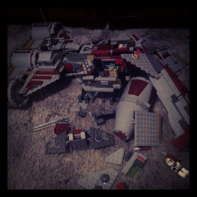 #Lego Crash Landing  (Taken with instagram)