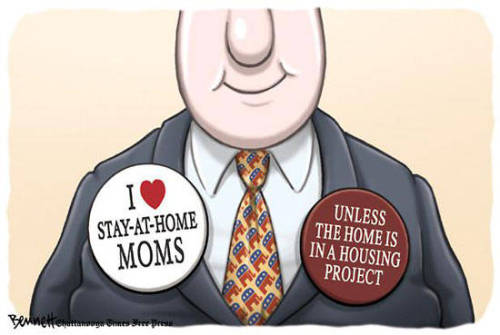 Comic credit Clay Bennett / Chattanooga Times-Free Press.