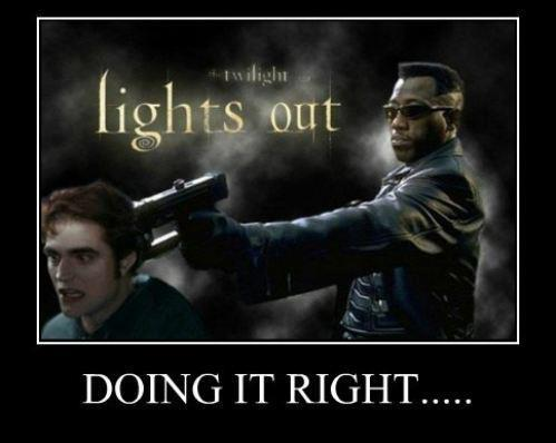 Well…. since Blade doesn't have superspeed and Edward does…. no matter how much I want this to happen… Edward is going to whoop his ass…
