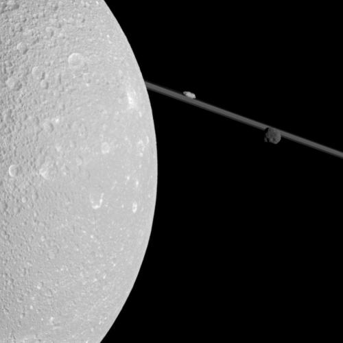 n-a-s-a:  A Close Pass of Saturn's Moon Dione  Image Credit: Cassini Imaging Team, ISS, JPL, ESA, NASA