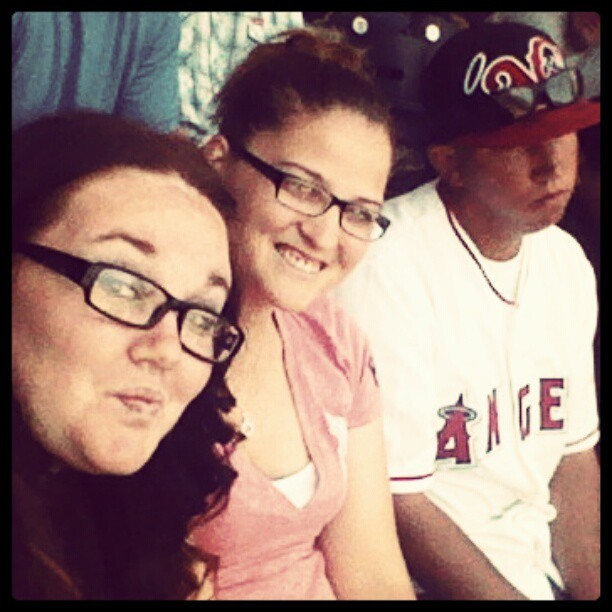 Me Katie & @mrbrown7 at #Petco park #angels  (Taken with instagram)
