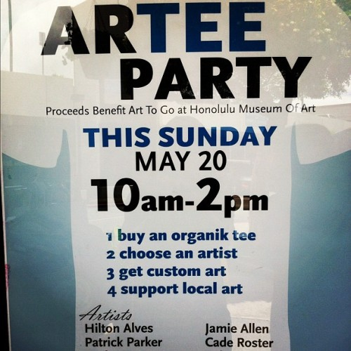 #arteeparty @wfmkahala with #organic #tees was a huge success (Taken with instagram)