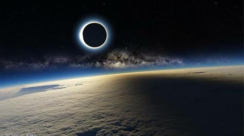 """NASA"" published a photograph of the eclipse today."