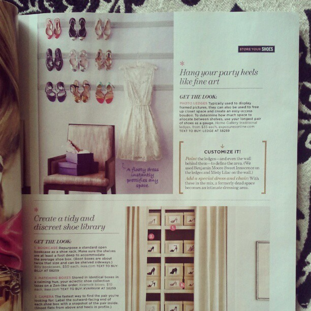 Creative & pretty storage solutions from Lucky mag! (Via Instagram)