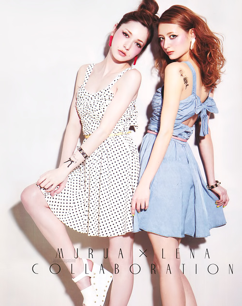 jpopmagazine:  Lena Fujii & Elli-Rose in ViVi June 2012  too cute!!