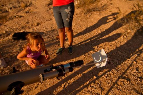 This Little Girl Was fascinated by our eclipse set up