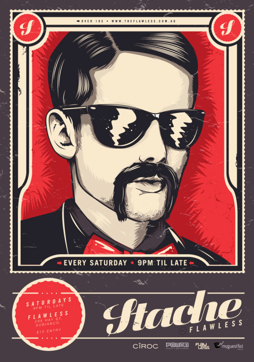 artbykris:  Stache Flyer.