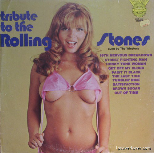 "Rene Bond on a Rolling Stones ""tribute"" album cover."