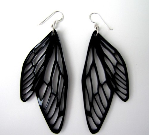 Dragonfly Wings Earrings by indomina