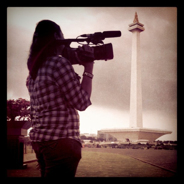 On #Monas, #Jakarta #Statue #historical #building #Indonesia #silhouette #iphonesia #instagram #igers (Taken with instagram)
