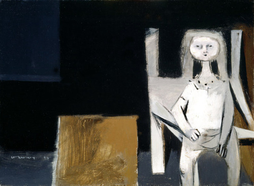 Louis Le Brocquy Child in a Dark Room. 1953oil on canvas28 x 38 cm VIA